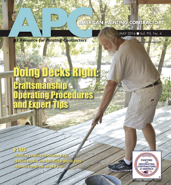 APC Magazine Cover of a Deck Being Painted